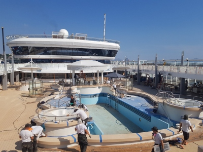 Norwegian Star Pool Deck Refurbishment Project